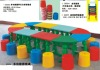 cheap and fine kindergarten plastic  tables  and chair set