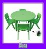 children folding picnic table