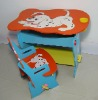 children wooden  furniture with dog picture