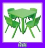 childrens wooden table and chair