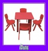 childrens wooden table & chairs