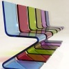 colored Acrylic Z shape chair M202-2722