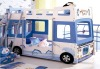hot selling MDF bus kids bunk bed
