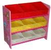 kid's storage box with shelf