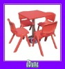 kids activity table with paper roll