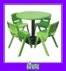 kids wooden table and chair