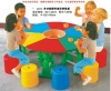 kindergarten plastic  tables  and chair set
