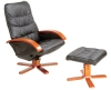 leather home furniture with ottoman