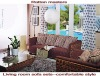 low carbon natural rattan furniture/hotel furniture