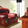 luxury antique european genuine leather sofa set