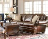 luxury leather sofa American classic style living room sets 140_236