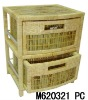 natural color bamboo weaving cabinet