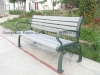 outdoor bench with plastic wood slasts