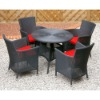 outdoor/indoor Popular PE rattan dining set wicker furniture PF-300-R