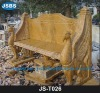outdoot stone classical patio bench