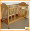 pine wood baby crib