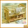 pine wooden baby crib