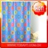 print hookless shower curtain