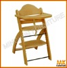 safety wooden baby high chair