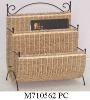 seagrass and iron frame magazine rack,news paper rack,magazine holder