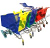 shopping trolley with baby seat
