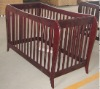solid pine wood baby crib