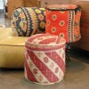 vintage kantha quilts ottoman / puff
