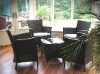 wicker rattan coffee table and chairs SCTC-040