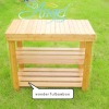 wonderful natural bamboo shoe bench
