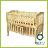 wooden baby sleeping bed