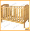 wooden small baby crib